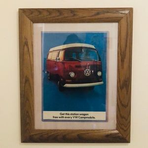 Vtg VW bus ad from TIME magazine